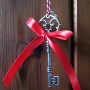 Santa's Key hanging on a door