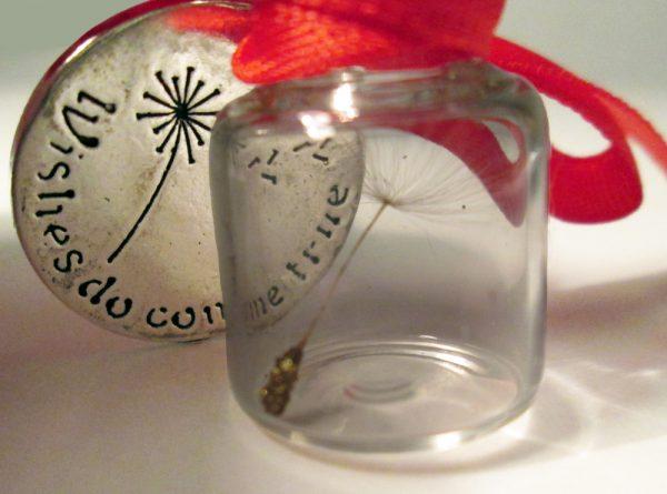 Dandelion Seed Wish in a Bottle