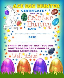 easter bunny certificates rooftop post printables