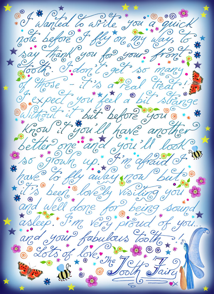 photo regarding Tooth Fairy Printable Letter named Enamel Fairy Take note: Thank By yourself for Your Entrance Enamel Rooftop