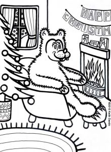 It's going to be cosy Christmas in Bear's cave!