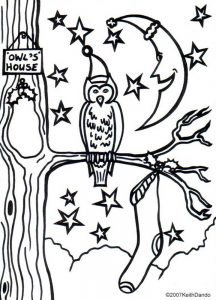 Owl on Christmas Eve - design by Leone Betts