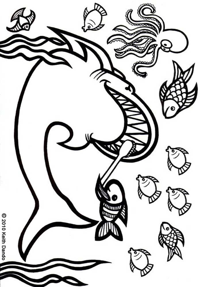 tooth coloring pages printable - shark keeps his teeth clean rooftop post printables