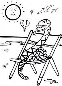 This sleepy snake is having a lovely time sunbathing in the summer sun.