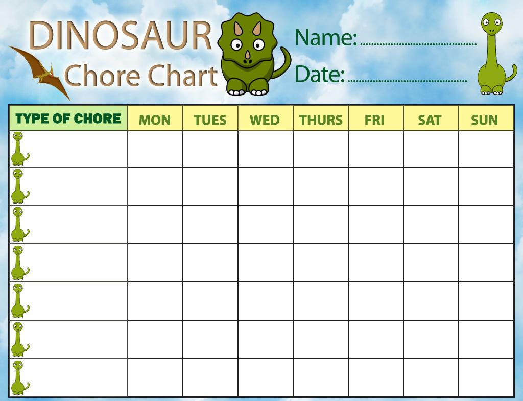 Dinosaur Chore Chart | Rooftop Post Printables