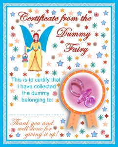 A certificate from the Dummy Fairy