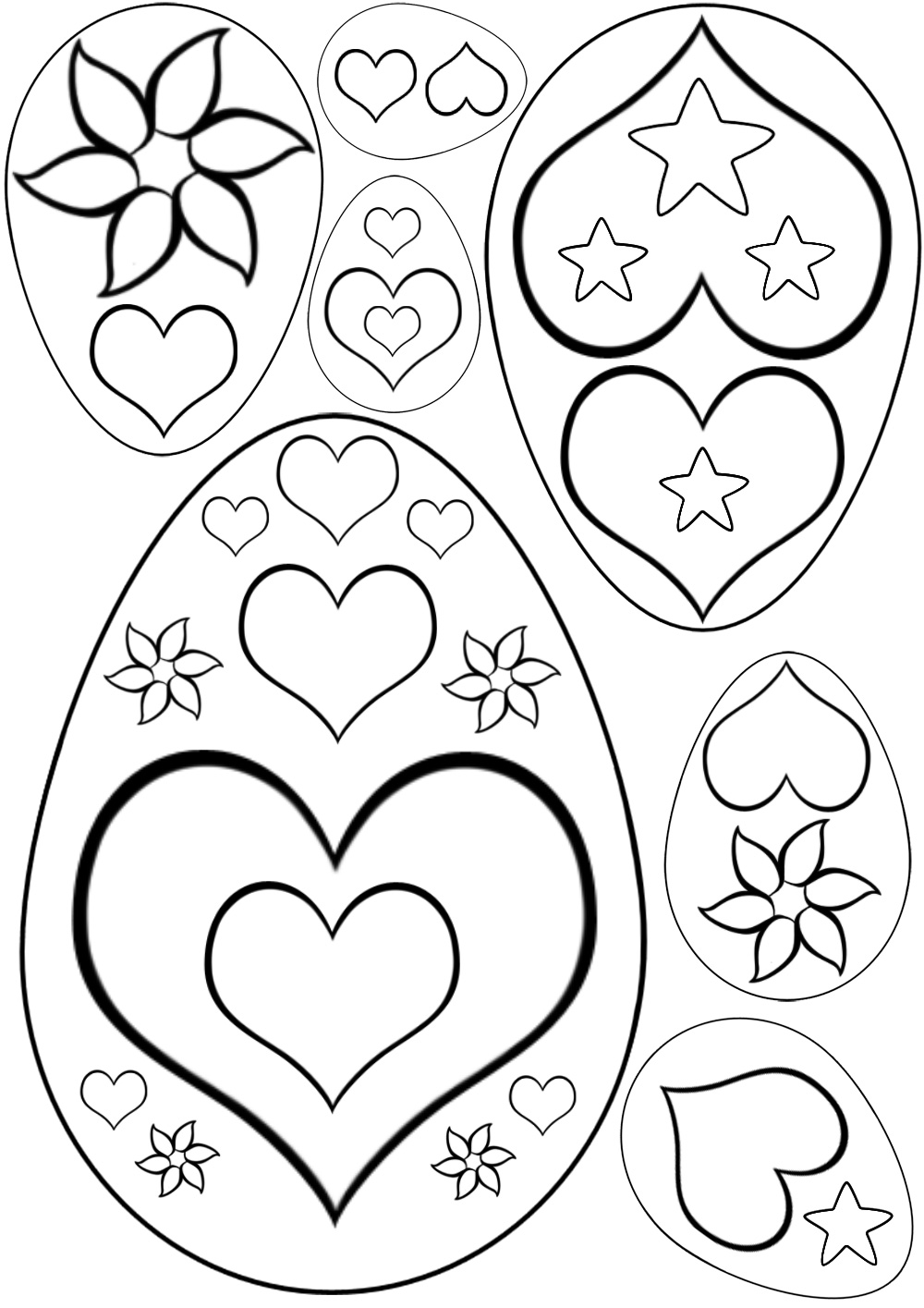 Heart patterned easter eggs rooftop post printables for Easter picture templates