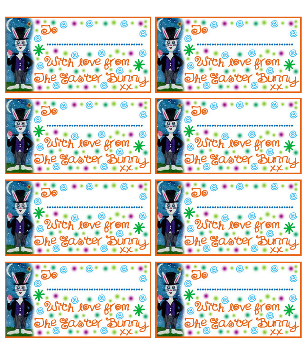 Easter bunny gift tags rooftop post printables gift tag for gifts from the easter bunny negle Choice Image