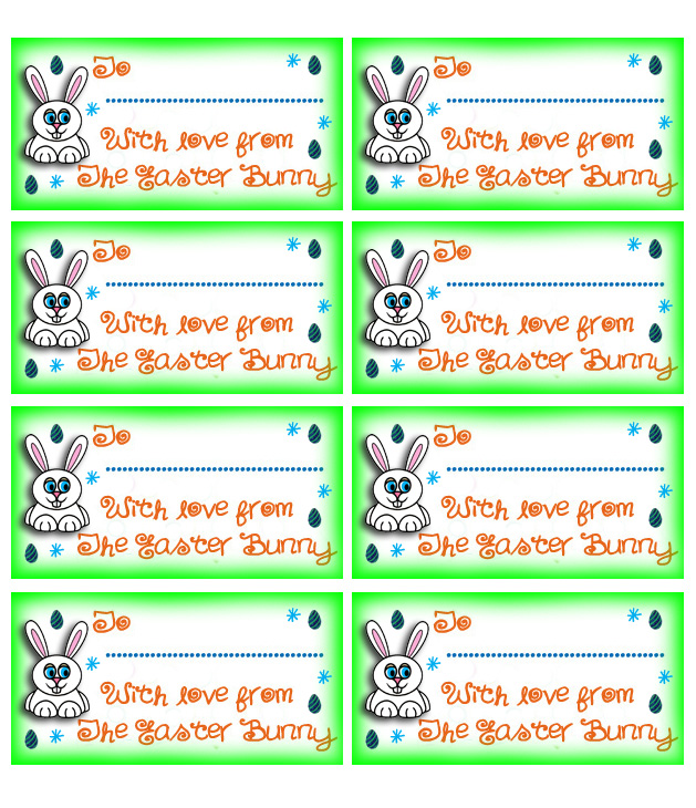 Easter Bunny Tags - Rooftop Post Printables
