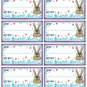 Easter gift tags rooftop post printables printable gift tags signed the easter bunny negle Choice Image