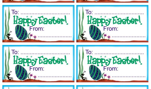 Printable gift tag for Easter