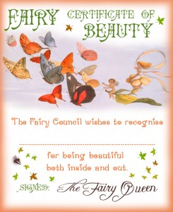 Fairy Certificate of Beauty