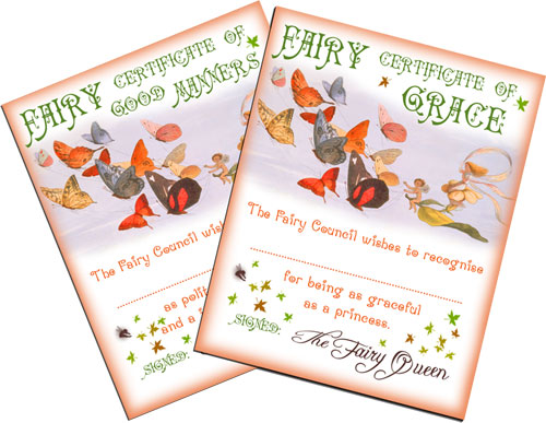 A collection of certificates signed by the Fairy Queen