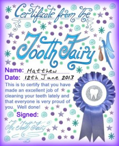 Tooth fairy certificates rooftop post printables modern tooth fairy certificates yelopaper Choice Image