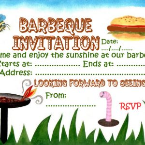 Invitation to a barbeque