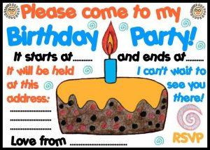 Invitation to a birthday party