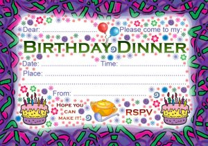Party Invitation: Birthday Dinner