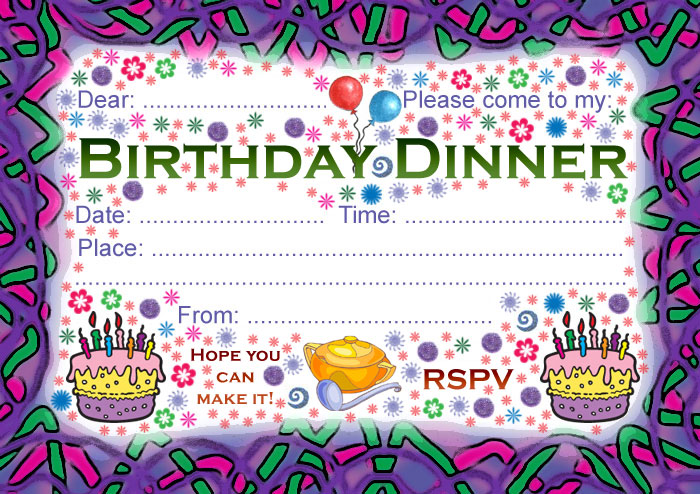 Birthday Dinner Party Invitation | Rooftop Post Printables
