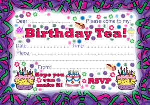Printable Party Invitation: Birthday Tea