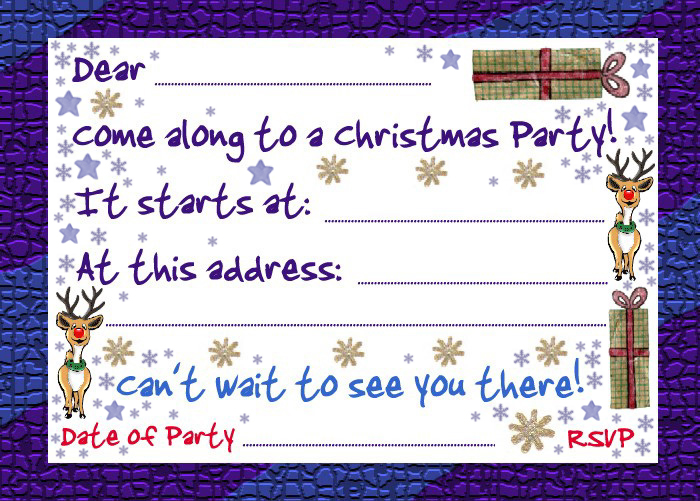 Invitation to a Christmas party