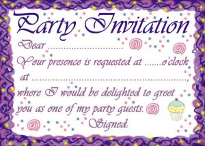 Classic style birthday party invitation