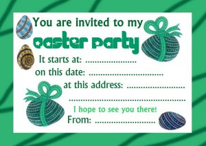 A very basic Easter party invitation