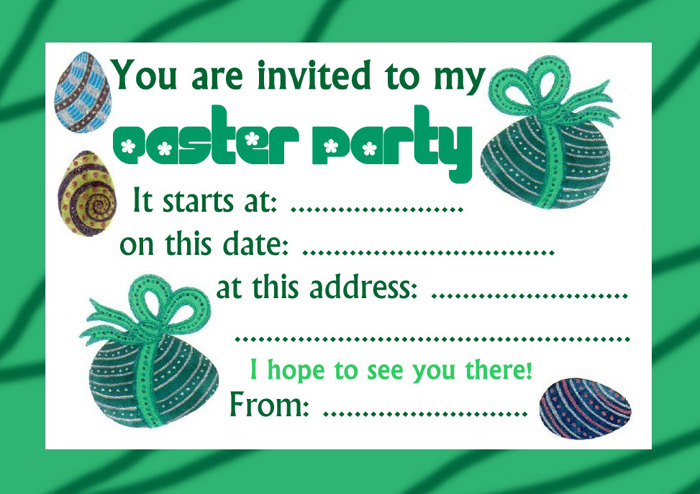 Basic Easter Party Invitation | Rooftop Post Printables