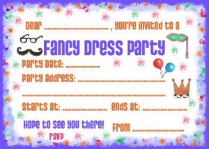 Party Invitation: Fancy Dress