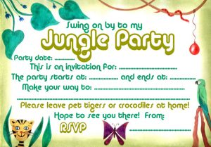 Invitation to a jungle party