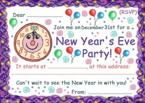 Invitation to a New Year's Eve party