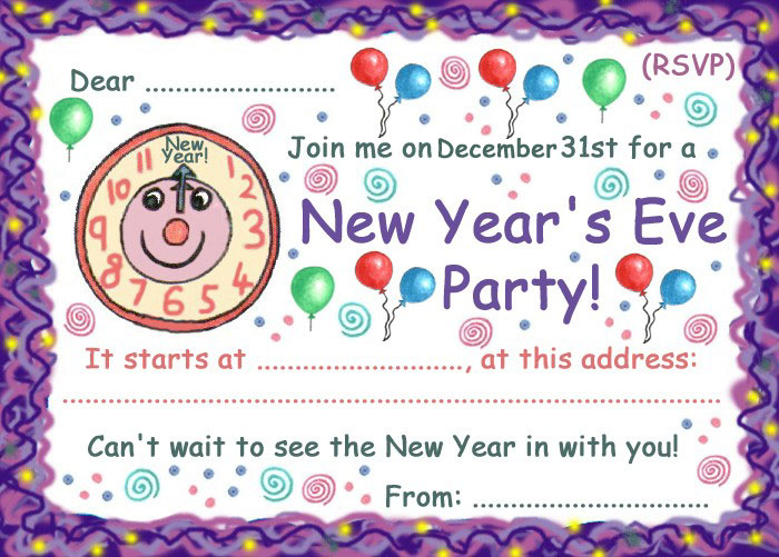 Printable new years eve invite crafthubs free printable new years eve invitations for 2014 party stopboris Image collections