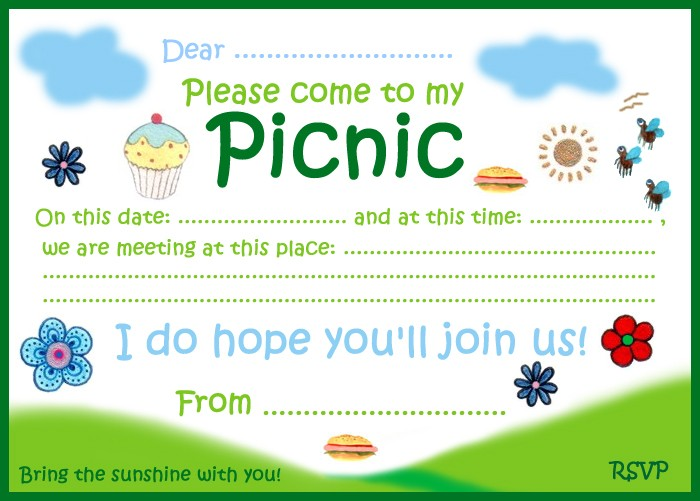 Invitation to a picnic