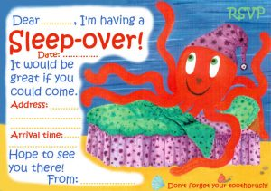 Invitation to a sleep-over