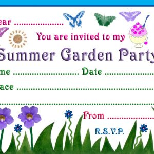 Invitation to a summer garden party