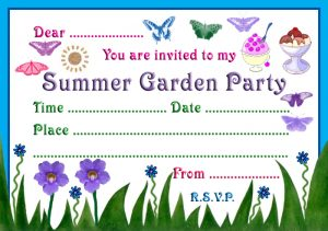Invitation to a summer garden party