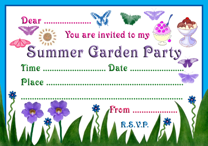 Summer Garden Party Invitation Rooftop Post Printables