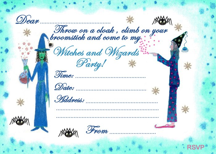 Witches And Wizards Party Invitation Rooftop Post Printables