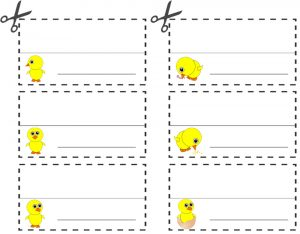 Easter Chick Table Place Names