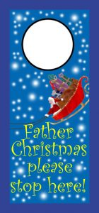 Father Christmas Door Hanger (slim)