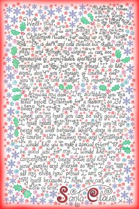 """Free Santa letter to say: """"Please try harder to be good"""""""