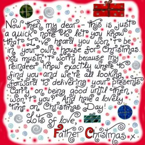 Printable note from Father Christmas saying he knows you're not at home this year