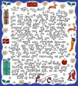 Printable note from Father Christmas saying thank you for a Christmas list