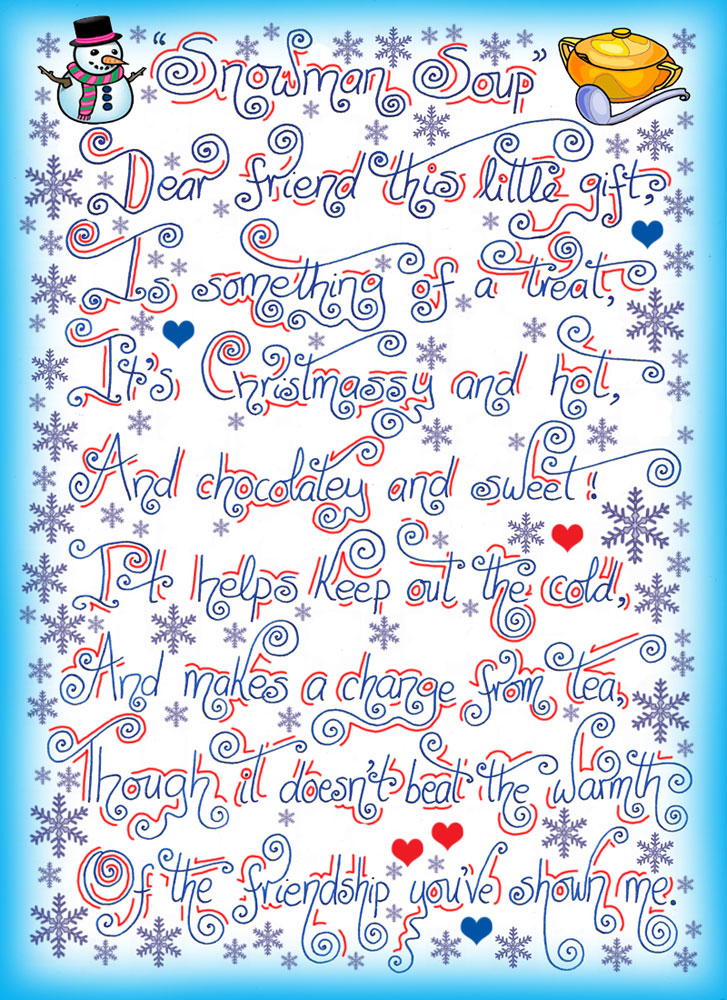 photo relating to Snowman Soup Poem Printable named Snowman Soup Poem Rooftop Report Printables