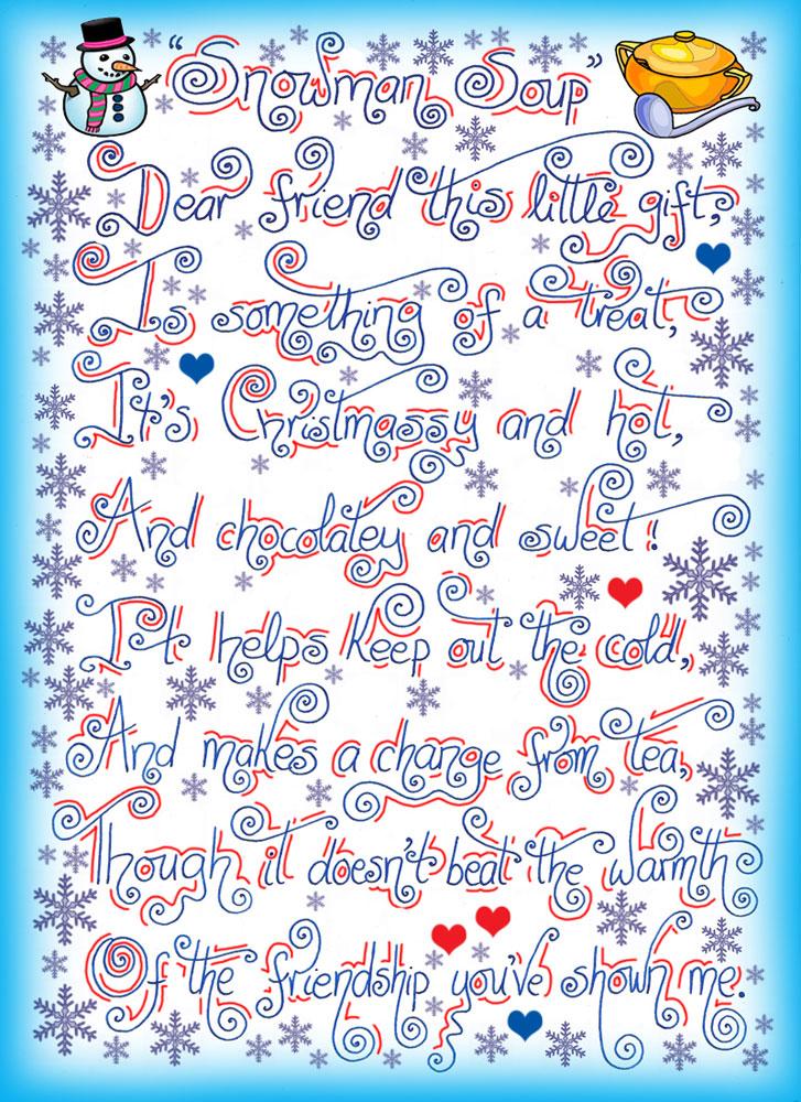 Snowman Soup Poem Rooftop Post Printables