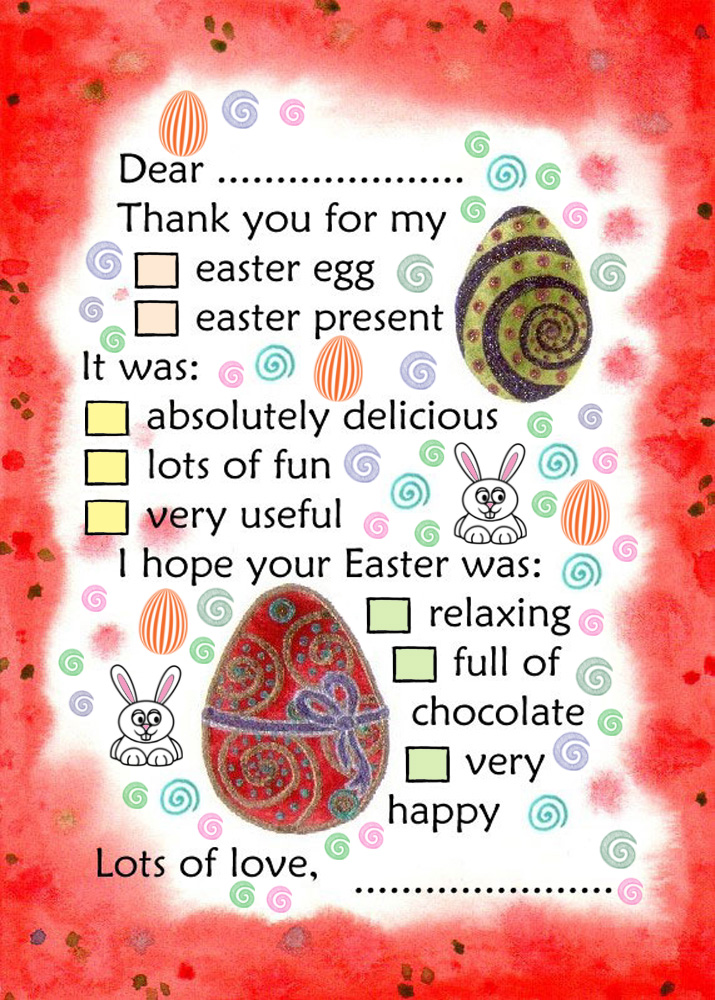 easter thank you note