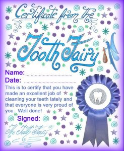 graphic relating to Free Printable Tooth Fairy Certificate identified as Innovative Enamel Fairy Certificates Rooftop Short article Printables