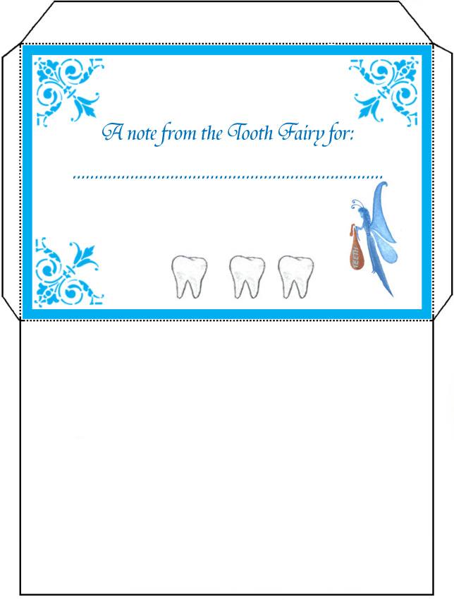 Tooth fairy envelope rooftop post printables for Free printable tooth fairy letter template