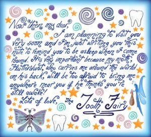 picture relating to Free Printable Tooth Fairy Letters called Teeth Fairy Notes Rooftop Short article Printables