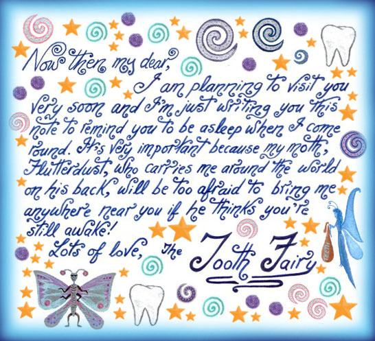 Tooth fairy notes rooftop post printables make sure youre asleep pronofoot35fo Image collections