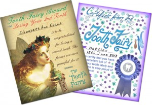 Vintage and Modern Tooth Fairy Certificates